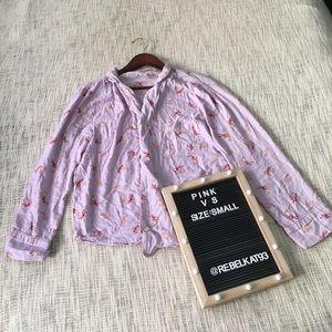 Victoria Secret pajama top purple button small
